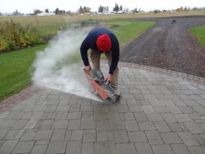 how to Cut Concrete Pavers with angle grinder